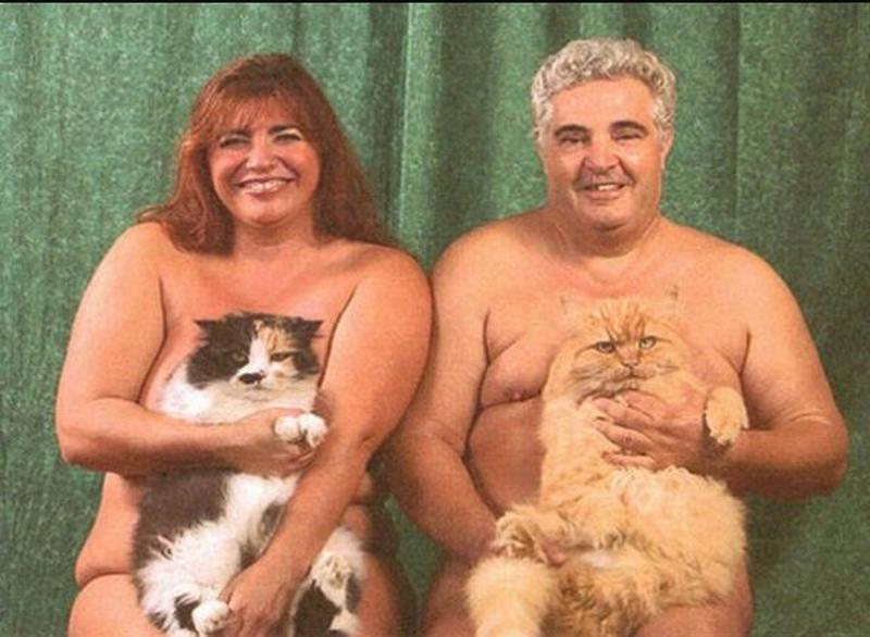 Men Posing With Their Cats 4