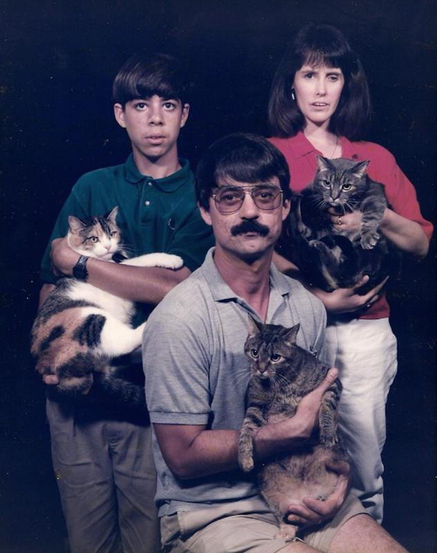 Men Posing With Their Cats 3