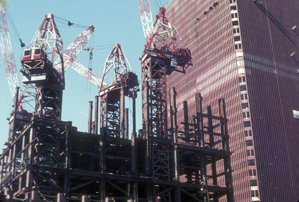 construction of twin towers 21