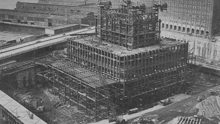 construction of twin towers 15