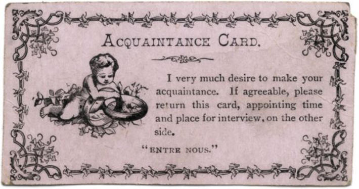 19 century pick up lines - business cards 10