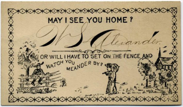 19 century pick up lines - business cards 13