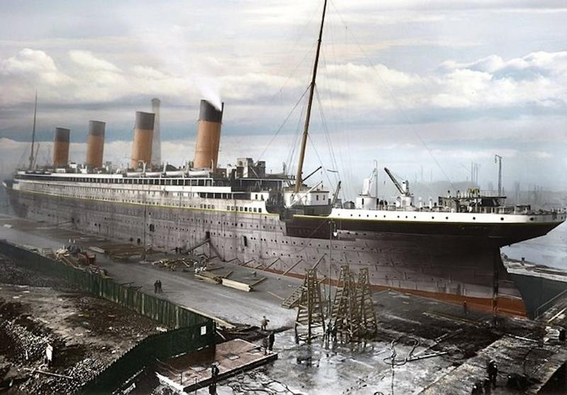 titanic in color 1