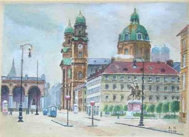 adolf hitler paintings 8