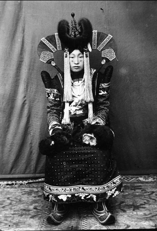 Mongolian Women in Their Traditional Costumes (5)