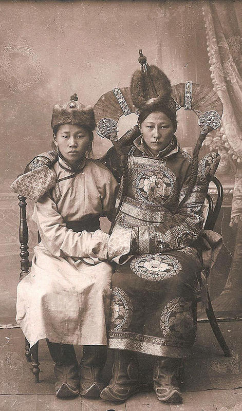 Mongolian Women in Their Traditional Costumes (4)