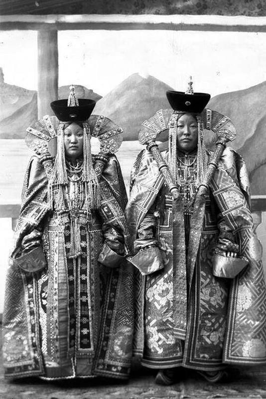 Mongolian Women in Their Traditional Costumes (9)