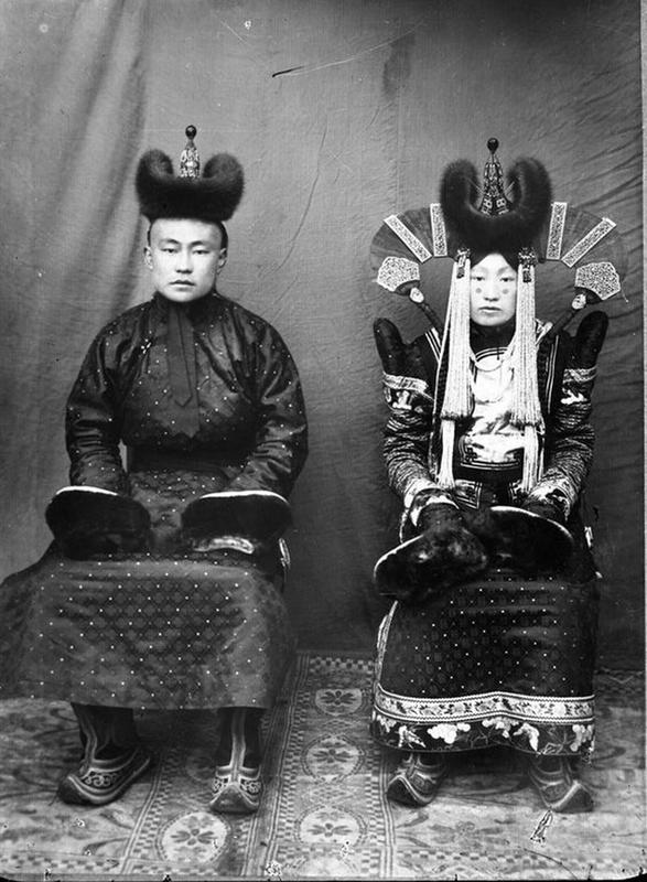 Mongolian Women in Their Traditional Costumes (3)