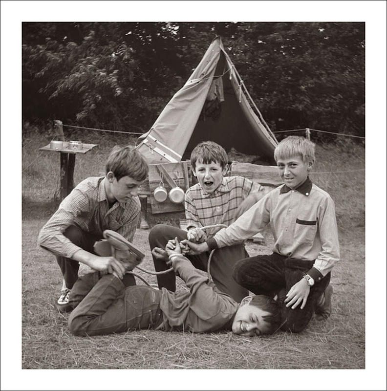 Getting up to mischief at a camp in Czechoslovakia during the 1960's.