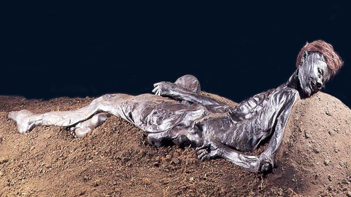 archaeological discoveries - the grauballe man