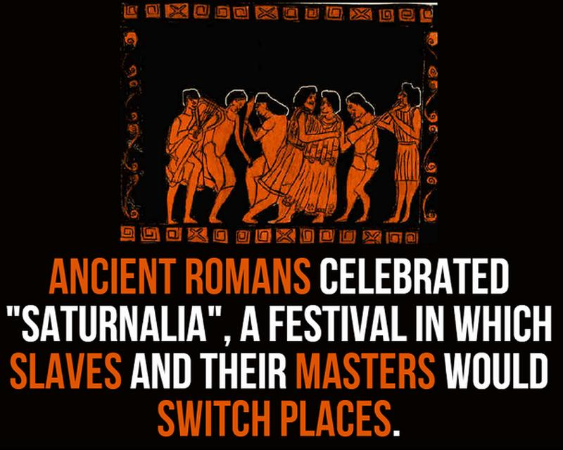 facts about ancient rome - saturnalia