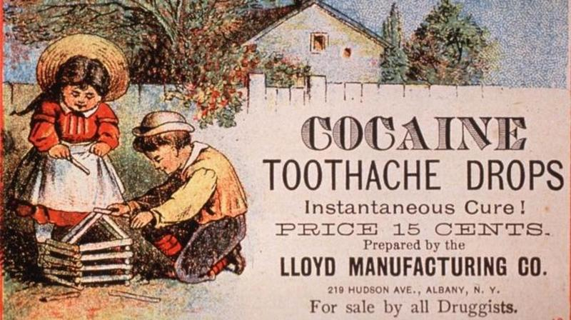 In the late 1890s, cocaine was an easy-to-get over-the-counter medication. Source: (history.com)