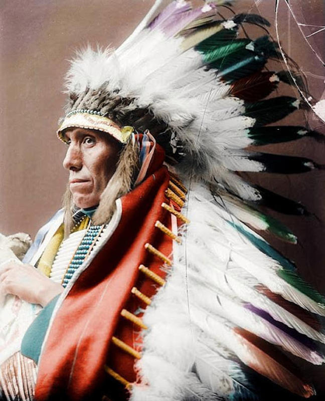 Colored Portraits of Native Americans, 19th Century