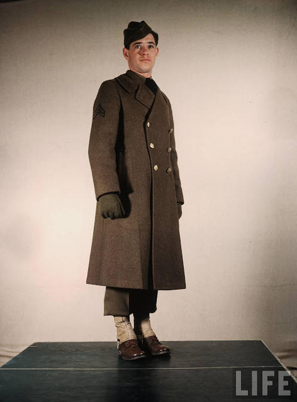 Amazing Color Photos That Show U S  Army Uniforms in World War II