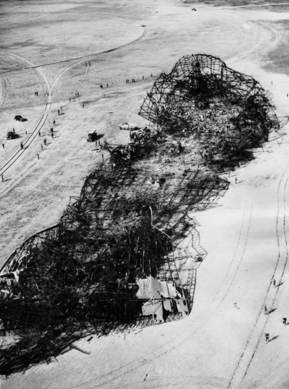 Hindenburg crashes