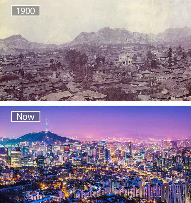 Cities Then and Now 11