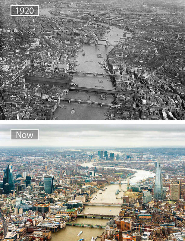 Cities Then and Now 10