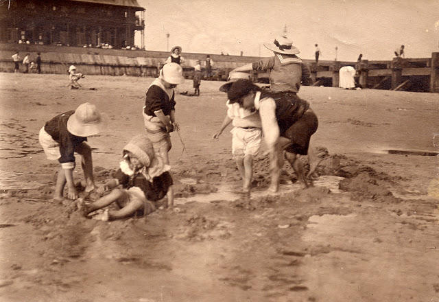 Edwardian Children at Beach 1