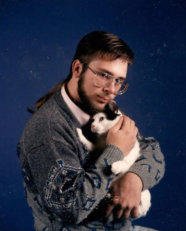 Men Posing With Their Cats 2