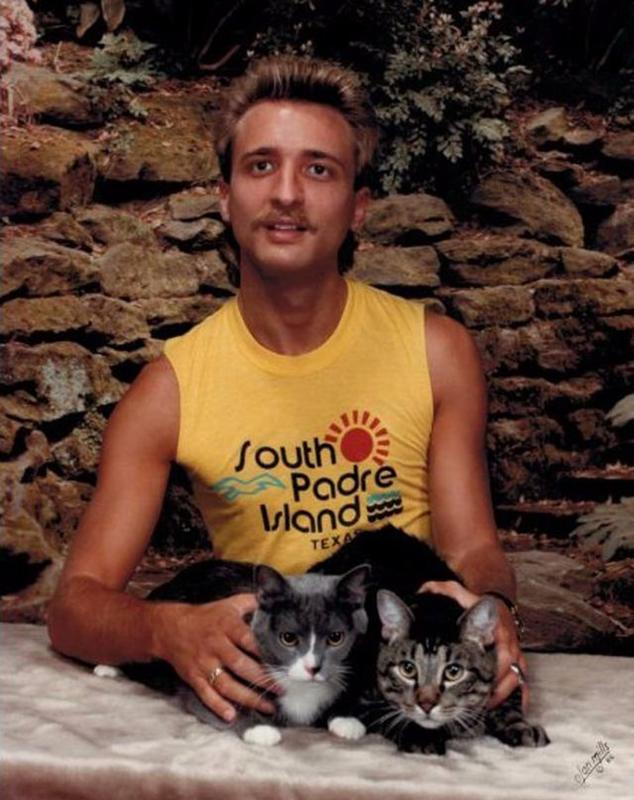 Men Posing With Their Cats 5