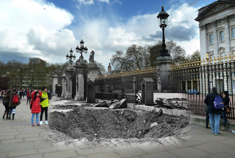 Scenes From The London Blitz - Now and Then