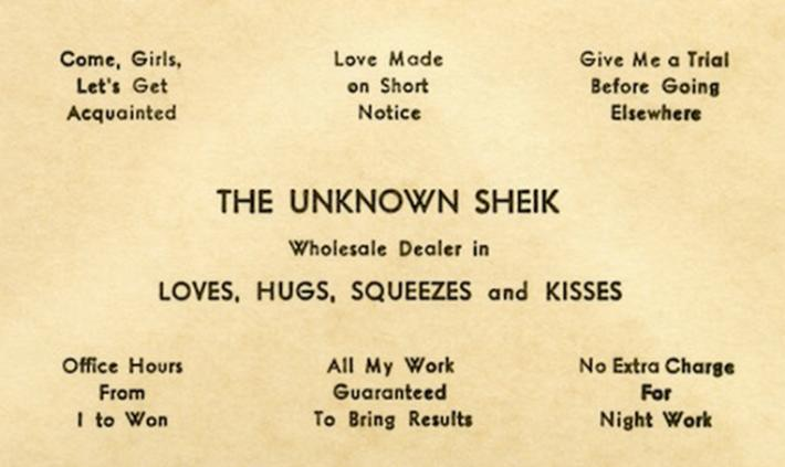 19 century pick up lines - business cards 2