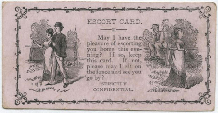 19 century pick up lines - business cards 11