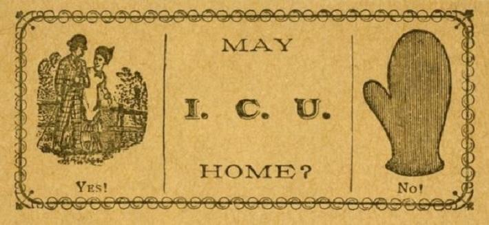 19 century pick up lines - business cards 16