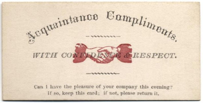 19 century pick up lines - business cards 9