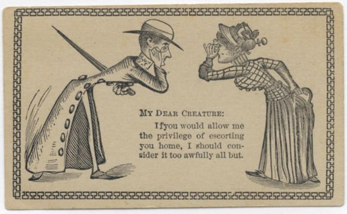 19 century pick up lines - business cards 5