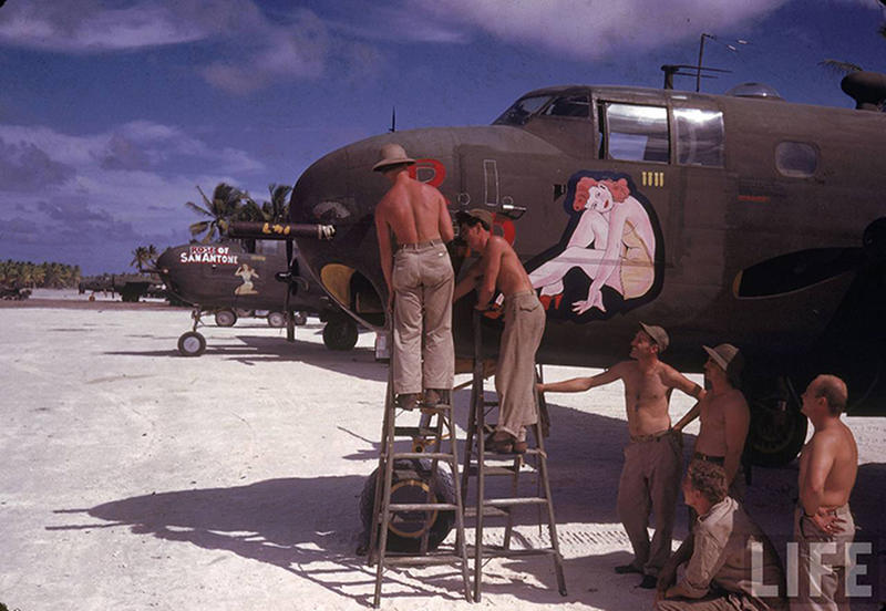 Rare Color Photographs Of World War II Soldiers Stationed On