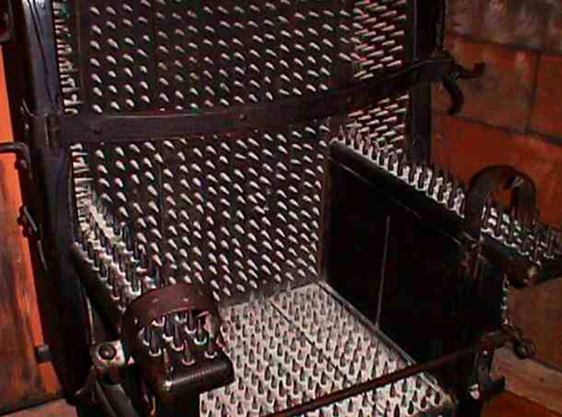 brutal torture devices - the chair of torture