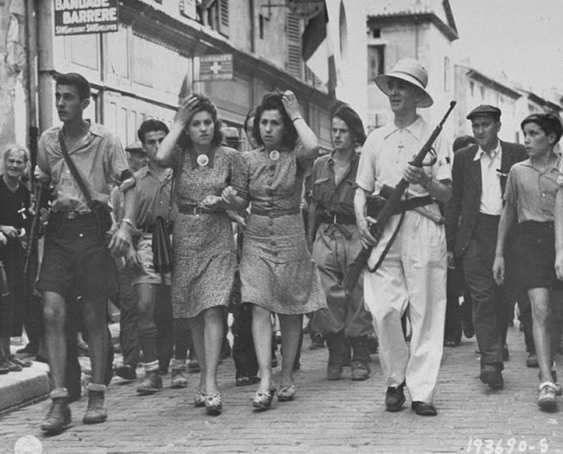 26 Pictures (Some Are Shocking) of Nazi Collaborator Girls in World ...