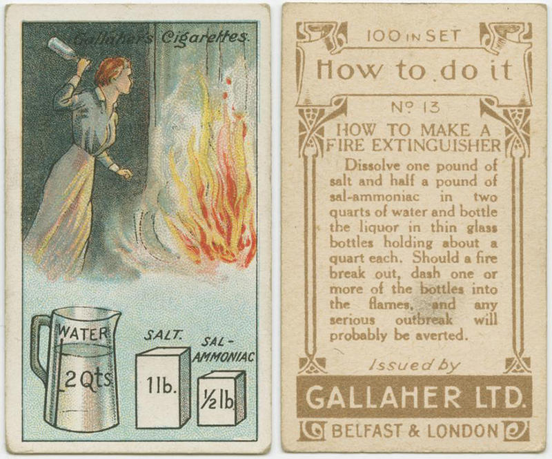 100 yr old lifehacks - fire extinguisher